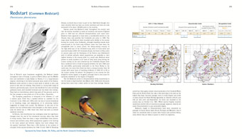 Redstart pages from 'The Birds of Gloucestershire'