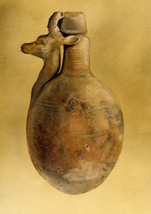 Gazelle Bottle from Ancient Egypt