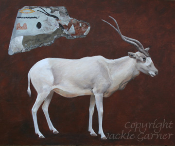 Addax, painting in acrylics