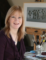 Jackie Garner, wildlife artist, Head & Shoulders photo