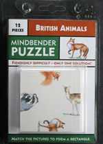 British Animals puzzle
